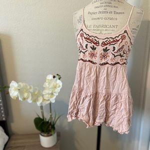 Blush embroidered flowy top